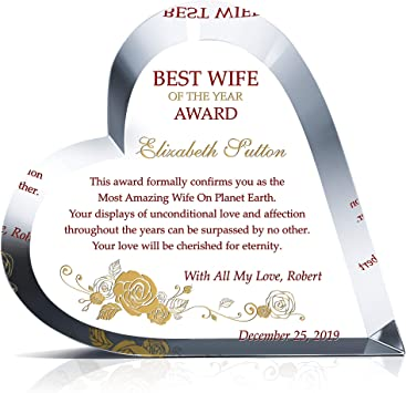 Amazon Com Personalized Heart Shape Crystal Best Wife Of The Year Award Customized With Love Message And Your Names Unique Custom Gift To Wife On Her Birthday Anniversary Christmas Or Mother S Day M,Free Kitchen Design Software Online Australia