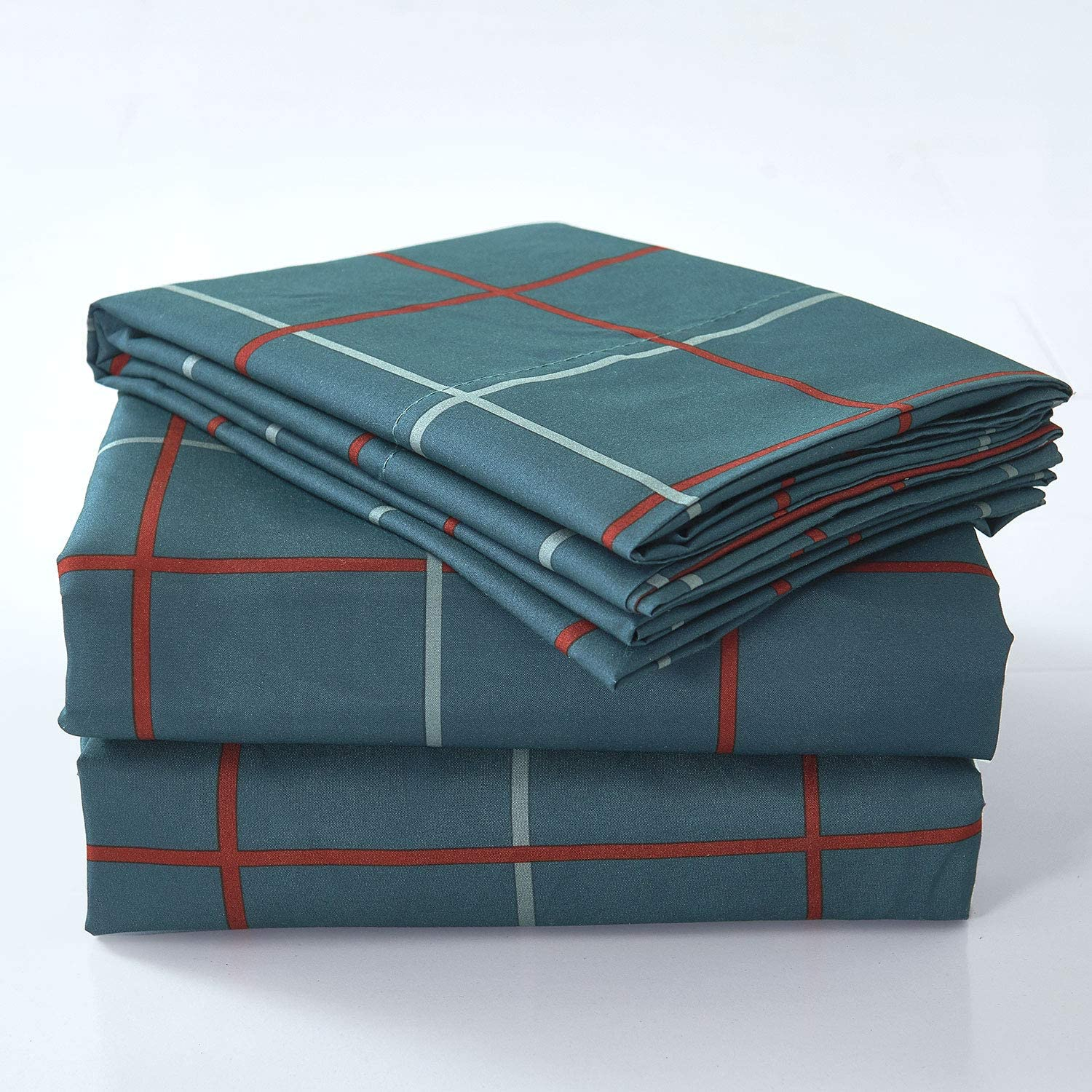 BASIC CHOICE 6 Piece Sheet Set - Luxury Soft 2000 Series Hypoallergenic, Wrinkle & Fade Resistant Bed Sheets (King, London)