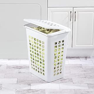 product image for Sterilite 12238004 Rectangular LiftTop Laundry Hamper, White, 4-Pack