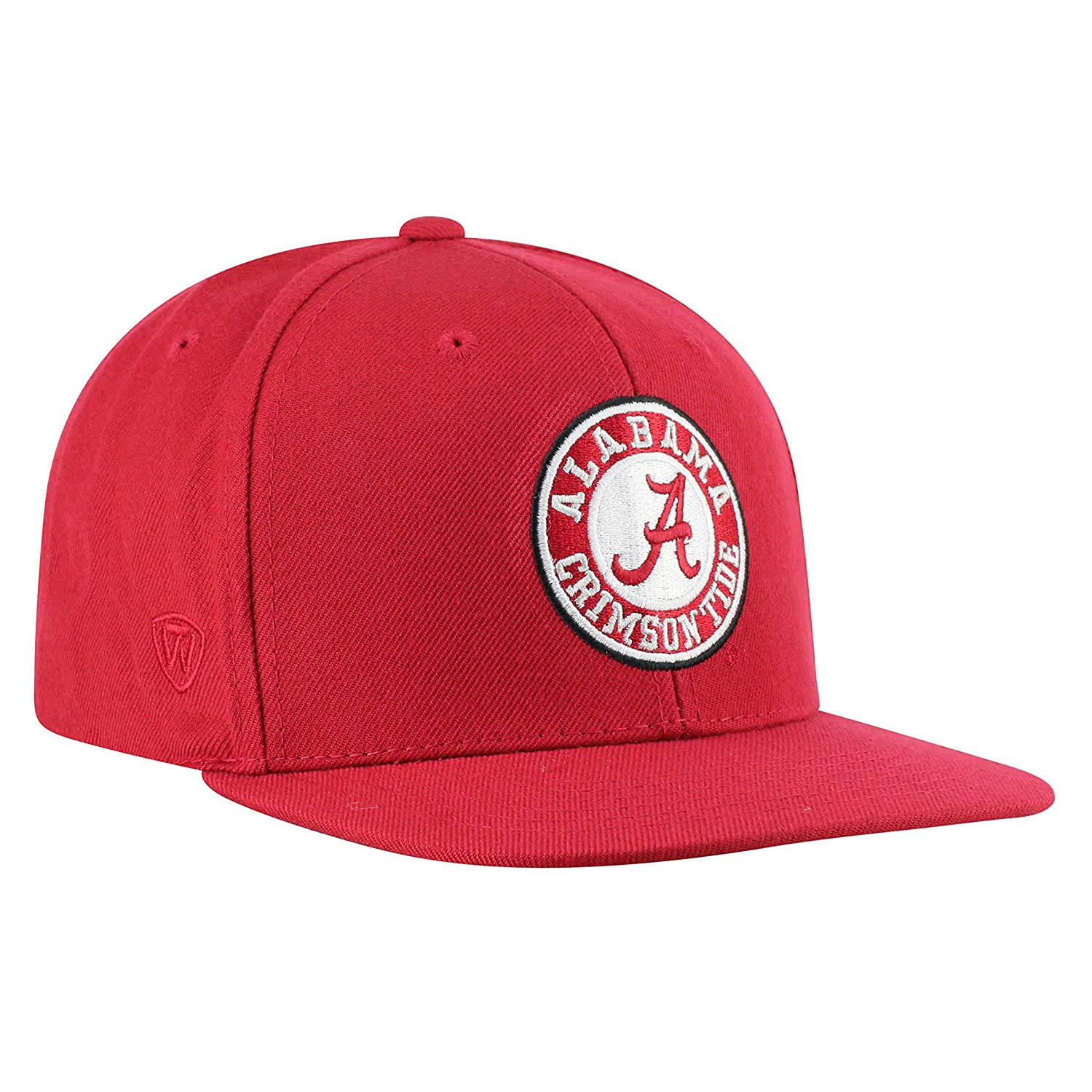 best sneakers ebe92 1393a Amazon.com   Top of the World Alabama Crimson Tide Men s Flat Brim Hat  Icon, Crimson, One Fit   Clothing