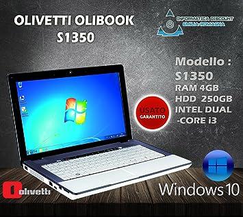 PC portátil Notebook Olivetti S1350 Webcam Core i3 4 GB RAM 250 GB HD Win 10pro