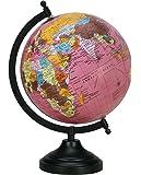 Rotating Pink Globe Table Décor Ocean Geographical Earth Desktop Home Décor