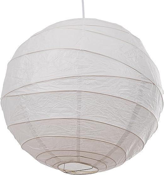 Loxton Lighting - Pack de 3 farolillos de bambú irregulares, papel, color blanco: Amazon.es: Iluminación