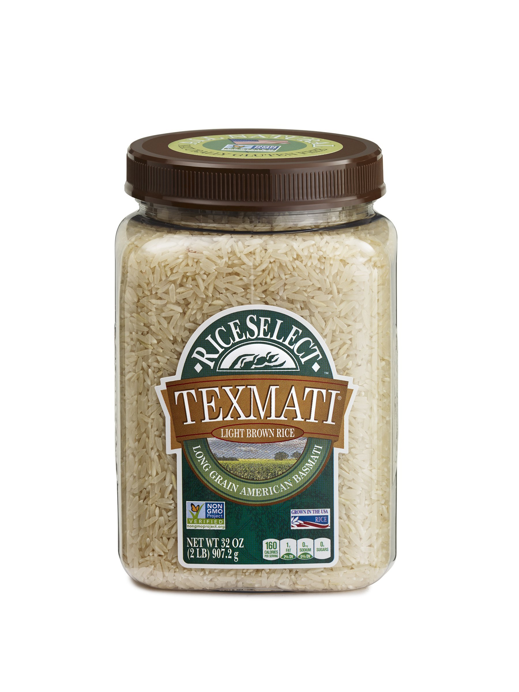 RiceSelect Texmati Rice, Basmati, Light Brown, 32-Ounce (Pack of 4)