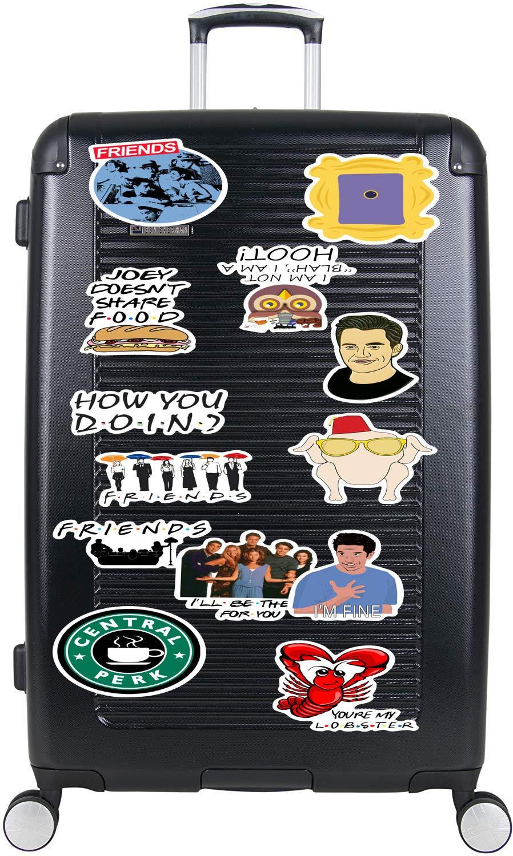 50pcs Friends TV Show Stickers Graffiti Patches Fans Decorative Waterproof Vinyl Scrapbook Gift for Laptop Cartoon Notebook PC Bike Skateboard Luggage