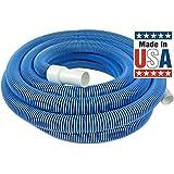 Poolmaster 优质泳池真空软管带旋转袖口 - 长 30、35、40 或 45 英尺 50-Feet 蓝色 33450