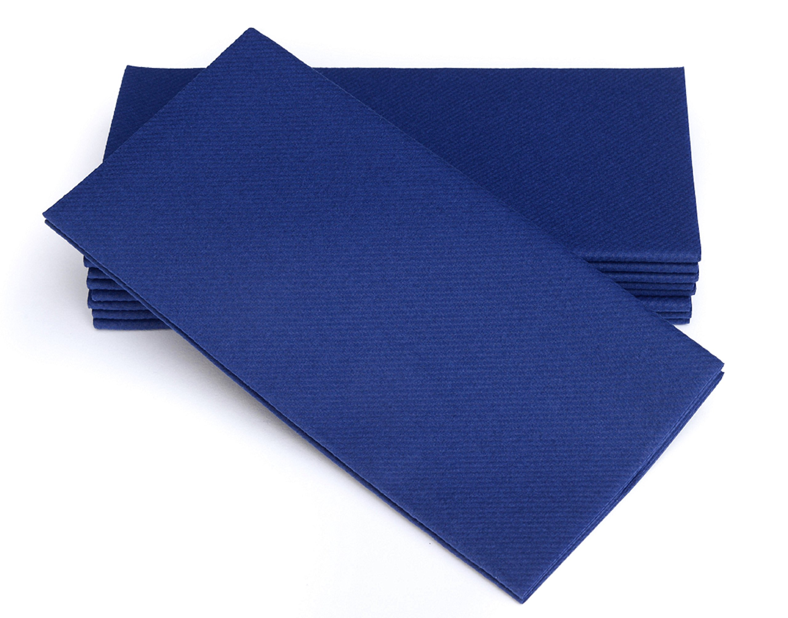 """Simulinen Dinner Napkins – Disposable, Blue, Cloth-Like – Elegant, Yet Heavy Duty Soft, Absorbent & Durable – 16""""x16"""" – Box of 50"""