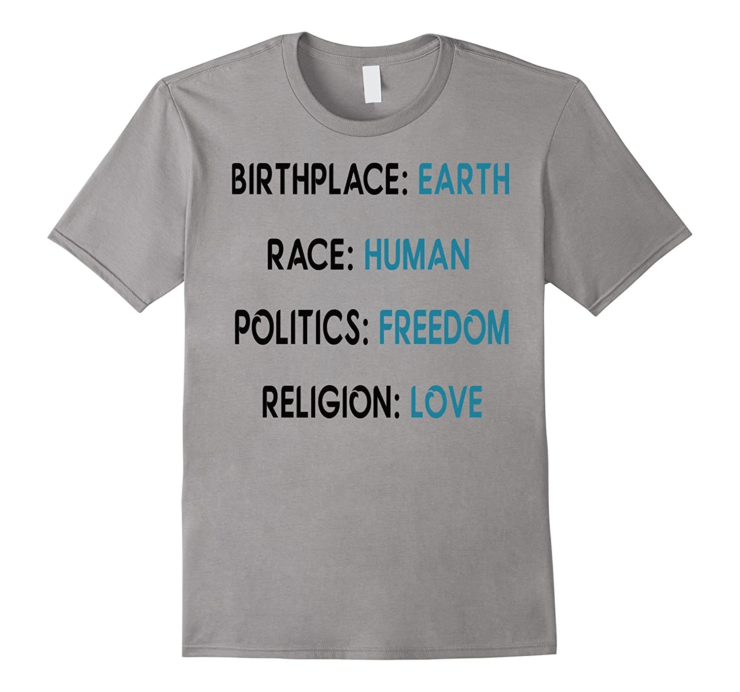 Birthplace Earth Race Human Politics Freedom Religion Love-Vaci