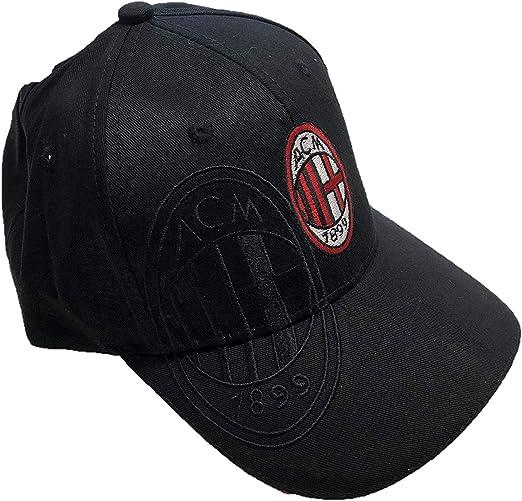 DND de Andolfo Ciro - Gorra de béisbol A.C.Milan, Color Negro ...