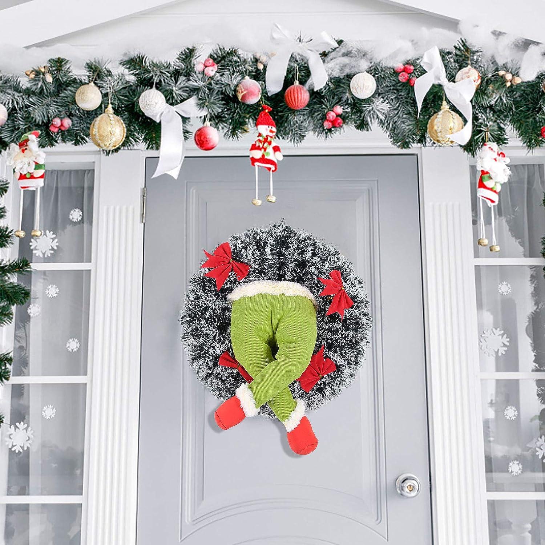 Outdoor Decor Home Garland Christmas Wreath, Burlap Christmas ...