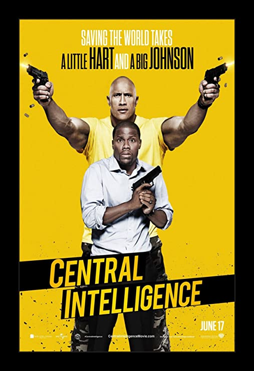 Amazon.com: Wallspace Central Intelligence - 11x17 Framed Movie ...