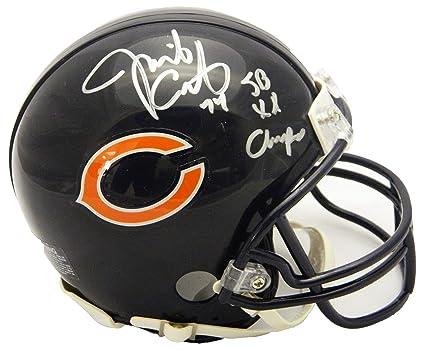 21b0e85d Amazon.com: Jim Covert Signed Chicago Bears Riddell Mini Helmet w/SB ...