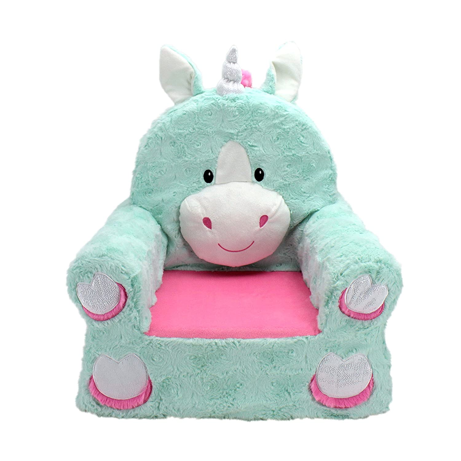 Groovy Animal Adventure Sweet Seats Character Chair Teal Unicorn Pabps2019 Chair Design Images Pabps2019Com