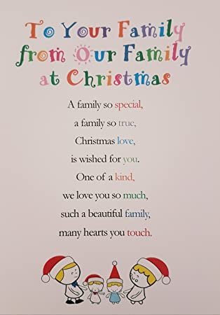 9ae4c247aa20 to Your Family from Our Family at Christmastime - Cute Christmas Luxury  Greetings Cards by Clarabelle