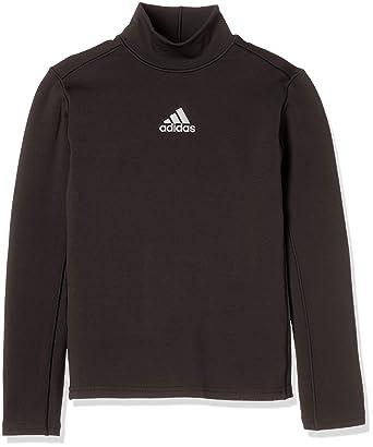 ef0c831c8baea8 [アディダス] トレーニングウェア TRN CLIMAWARM ハイネック長袖Tシャツ FKM15 [ボーイズ] ブラック