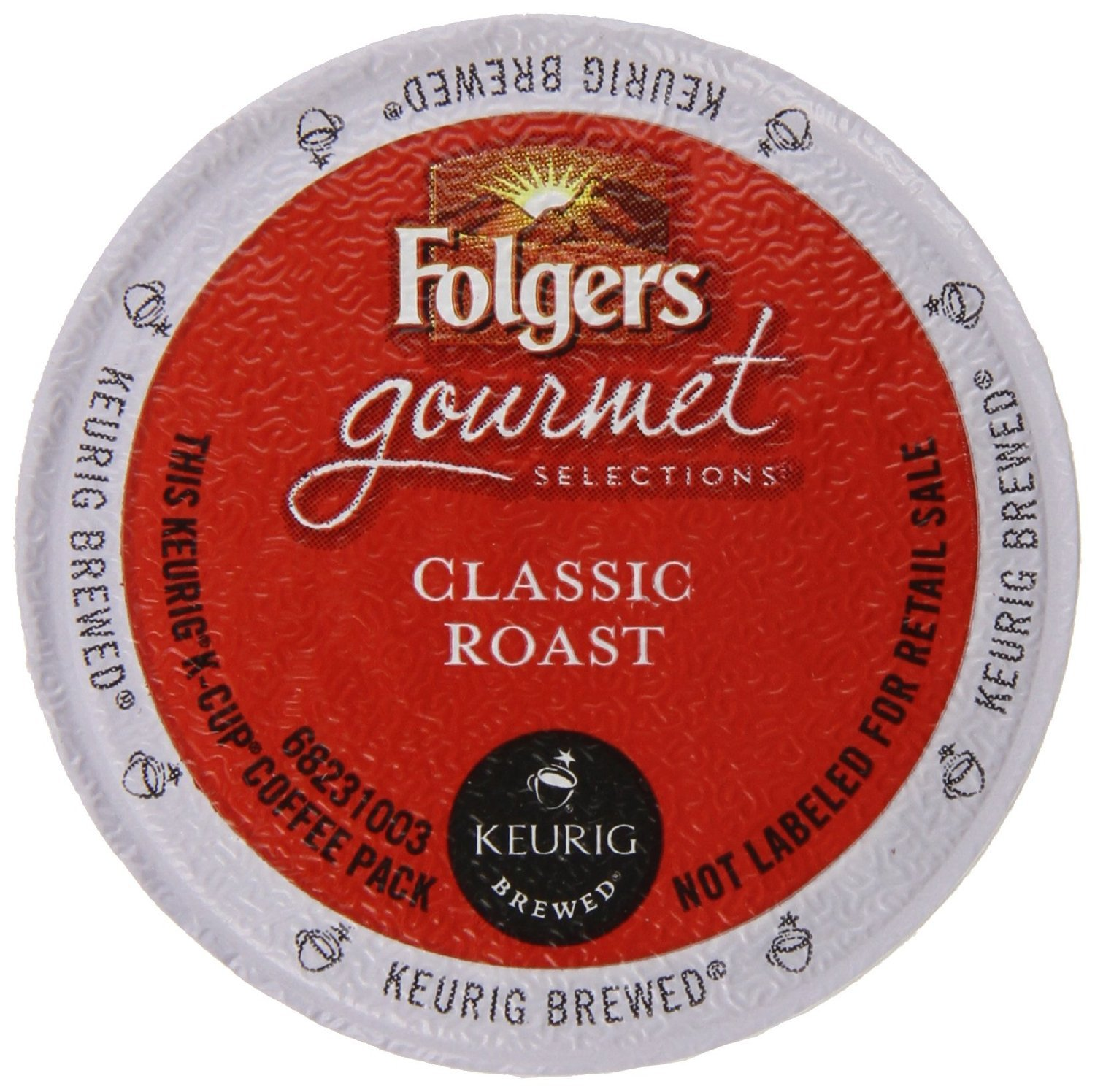Folgers Coffee K-Cup for Keurig Brewers, Medium Roast, Classic Roast, K-Cup packs, 48-Count
