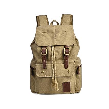 57f811ebf1c6 Amazon.com: KEROUSIDEN Men's Cotton Canvas Bag Casual Outdoor High ...