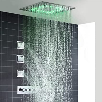 Hkhfhw docce pioggia e nebbia a led soffitto doccia fauct - Cambiare rubinetto bagno ...