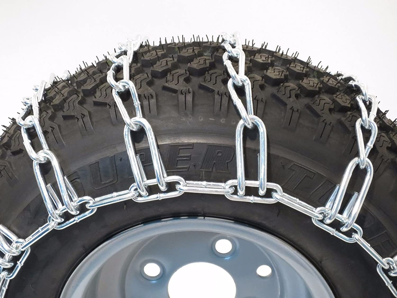 The ROP Shop Pair 2 Link TIRE Chains 22x10x8 fits Many Arctic Cat Bearcat Alterra DVX CR ATV