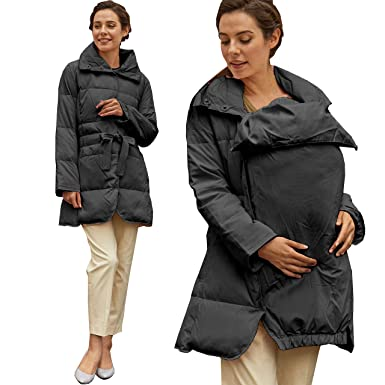 c351ed96bbd2 Sweet Mommy Maternity and Mother Down Coat with Removable Baby Panel ...