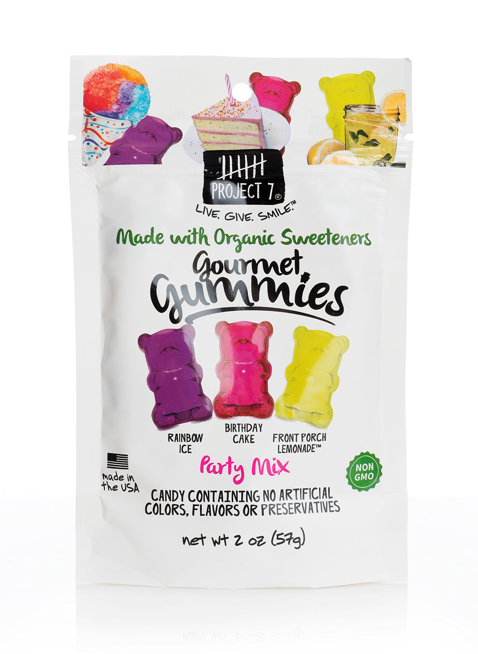 Amazon Project 7 Natural Gourmet Party Mix Gummy Variety Pack