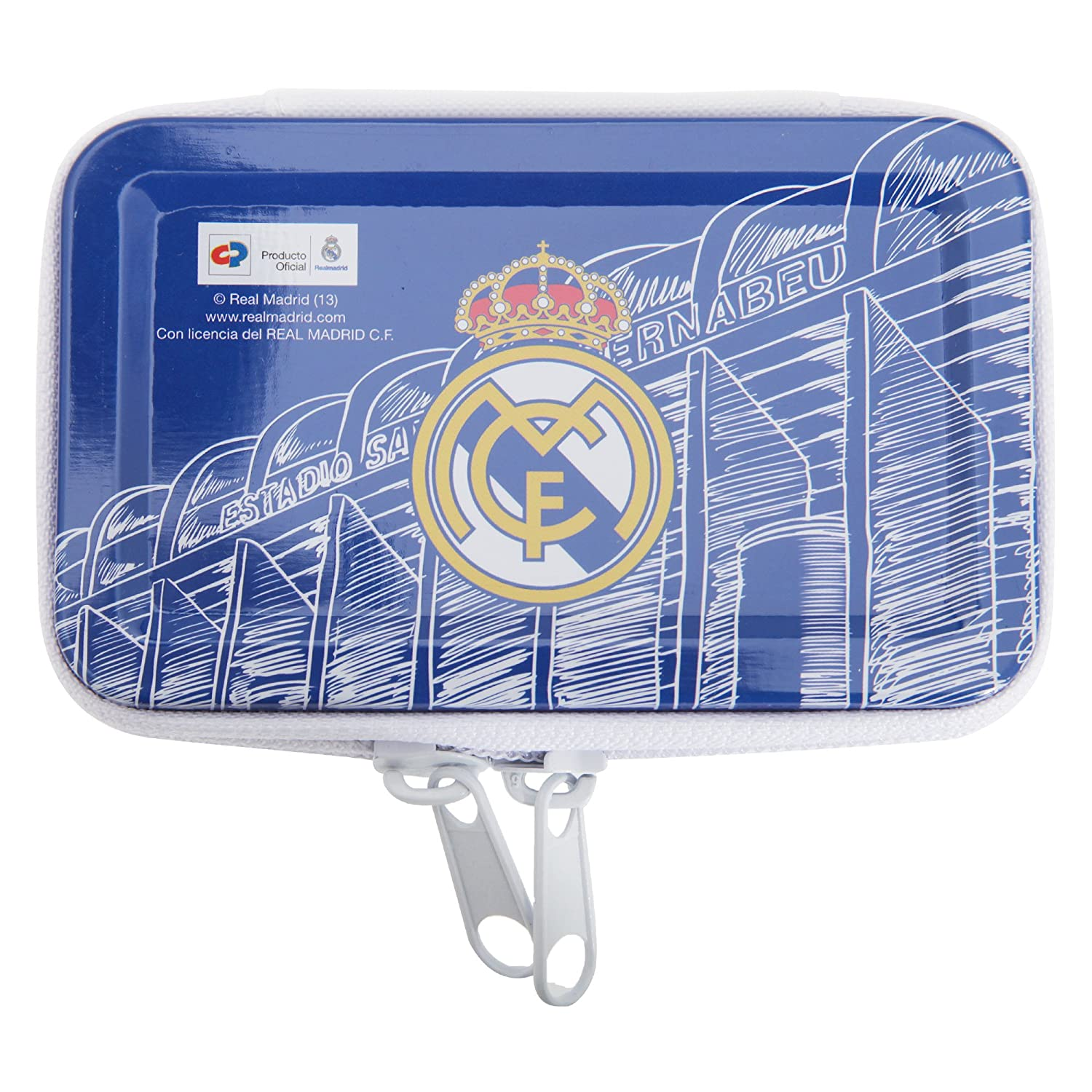 Portatodo monedero Real Madrid metalico: Amazon.es: Hogar