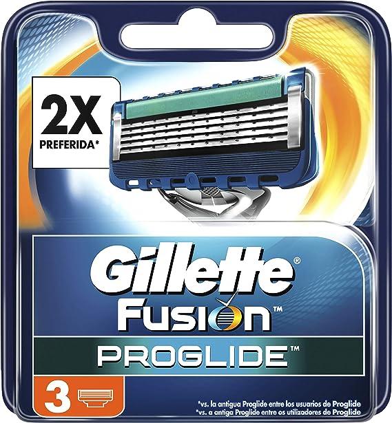 Gillette Fusion5 - Maquinilla de Afeitar, 3 Recambios, 5 Hojas ...