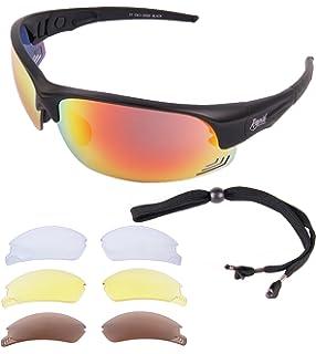 Rapid Eyewear Expert Cycle schwarz RADSPORTBRILLE mit Wechselgläser Für Damen und Herren. Brille für Joggen, Laufen, Triathlon, Sport etc. UV schutz 400