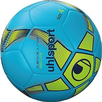 uhlsport ANTEO Lite Balón fútbol, Niños, Azul Hielo/Amarillo Flúor ...