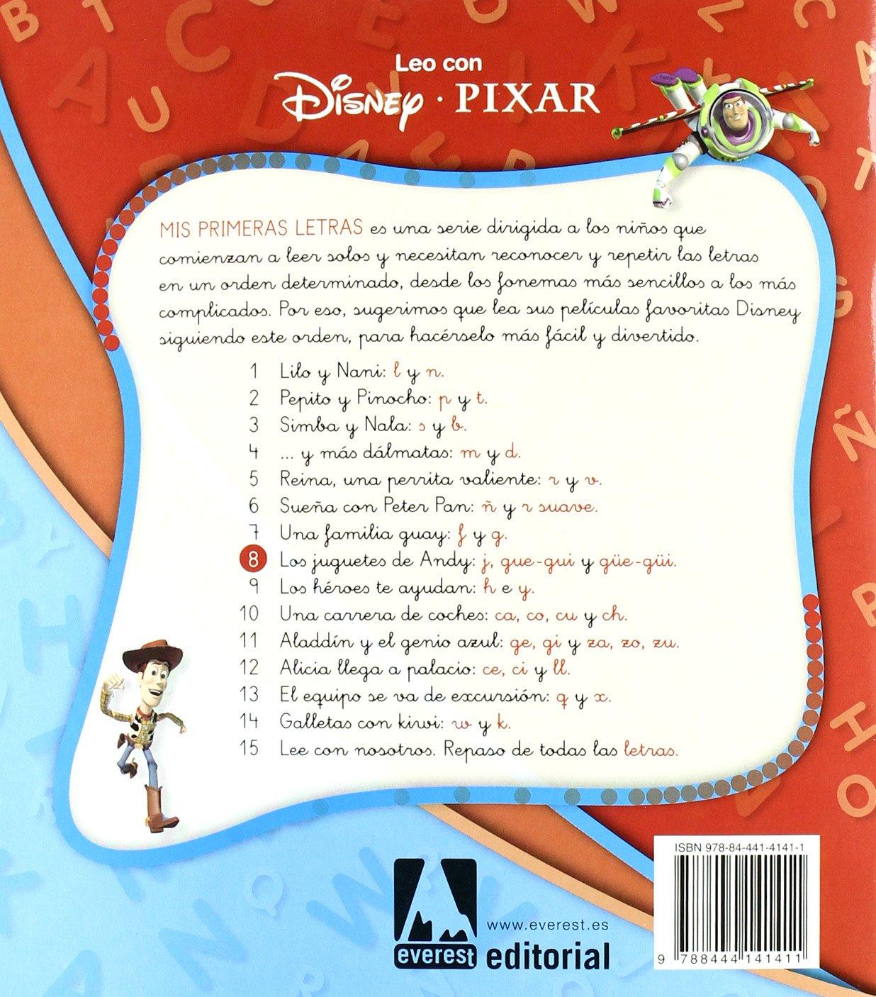 Toy Story. Los juguetes de Andy. Lectura Nivel 2  Aprendo las letras ... 6e12bd81b21