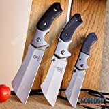 """BUCKSHOT KNIVES Cleaver Combo 3 PC Black Set 8"""" OUTDOOR FIXED BLADE CLEAVER KNIFE + CLEAVER Assisted Open Folding + Miniature BUCKSHOT CLEAVER Folding Knife HUNTING CAMPING"""
