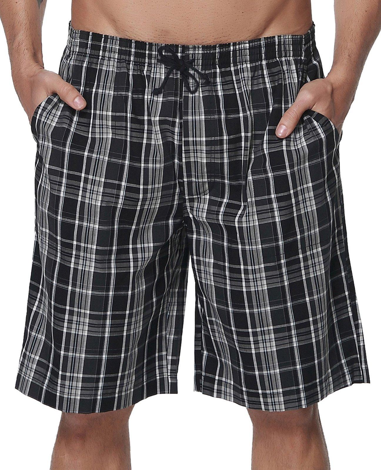 PAUL JONES Men's Lounge Sleep Shorts Casual Plaid Shorts Size 2XL by PAUL JONES