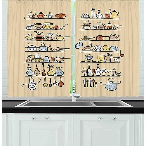 Retro Fabric Curtains For Window: Amazon.com