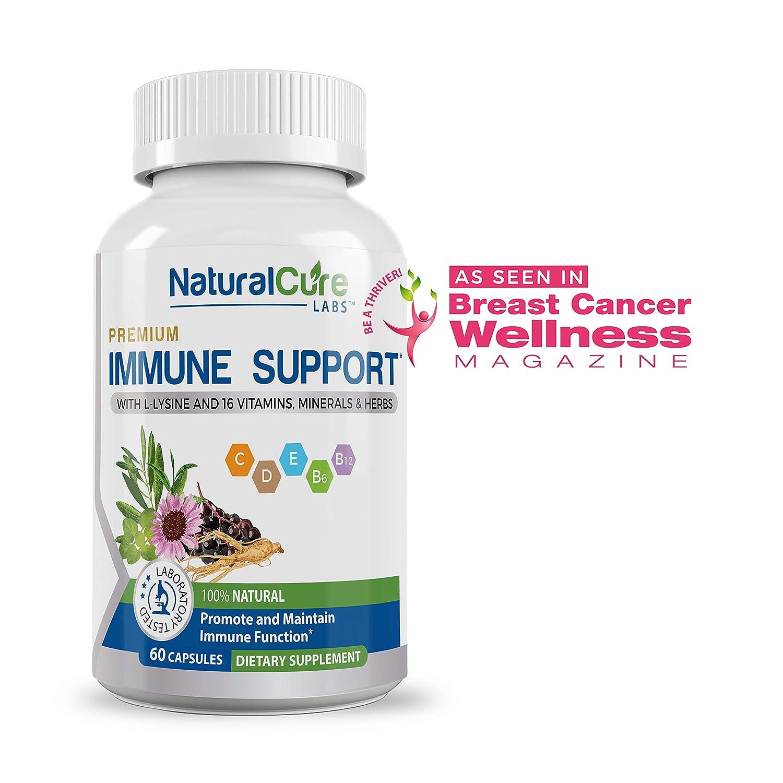 Premium Immune Support  #1 Researched Natural Antiviral, Antibacterial  Formula 60 Count