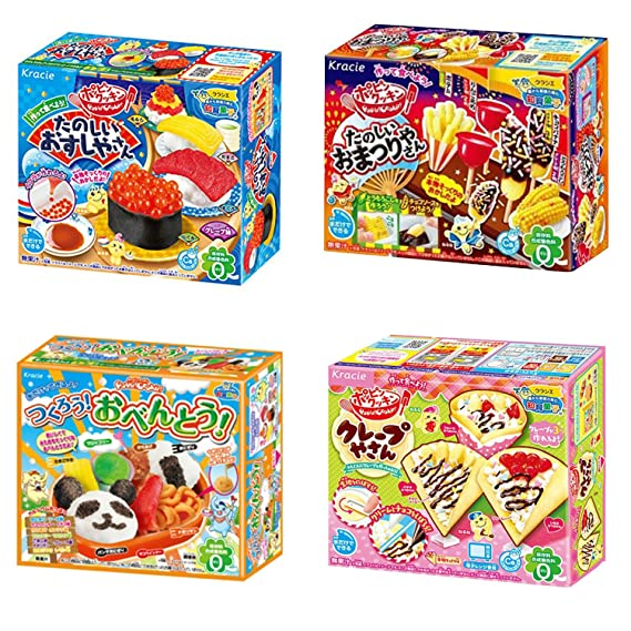 Kracie Popin Cookin Happy Lunch Box /& Japanese Snacks Dagashi 20pcs Set Ninjapo Package Sweets Candy by Dagashi