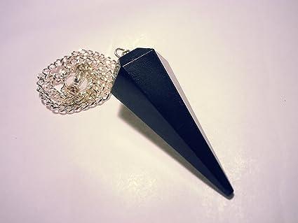 Pendule cône ésoterisme radiesthesie chakras pierre gemme cristal de roche