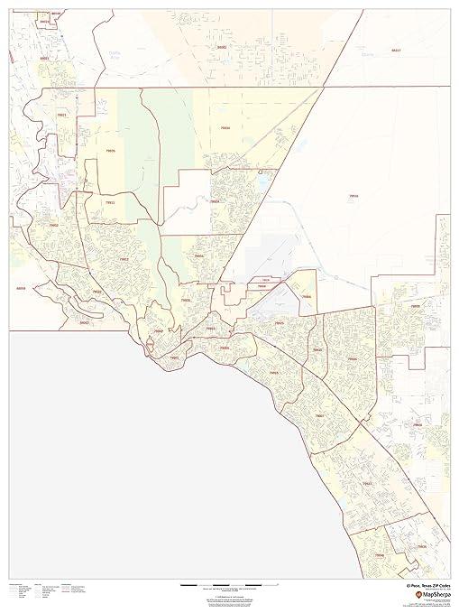 Amazon.com : El Paso, Texas Zip Codes - 36\