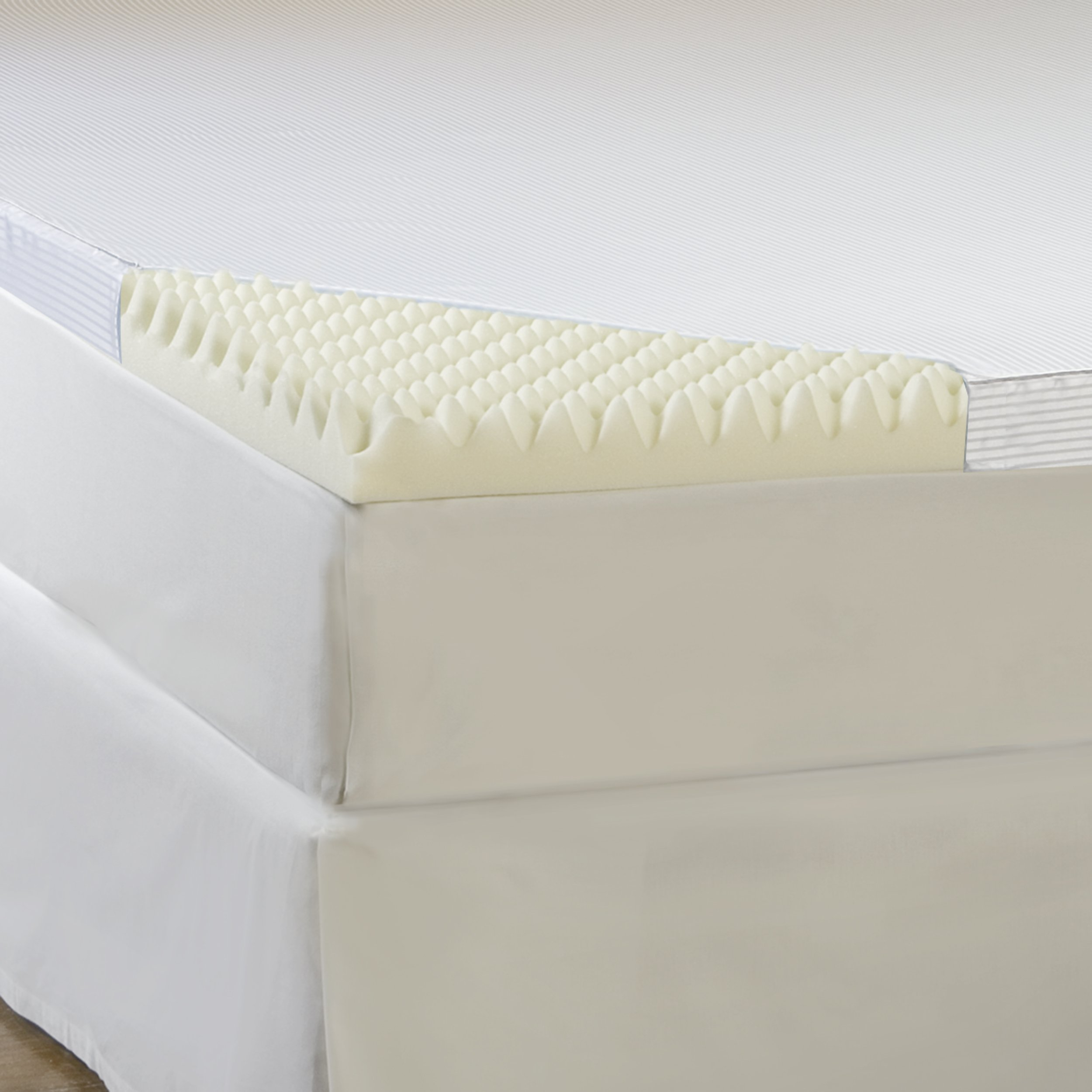 Hotel Comfort 4-Inch Comfort Loft Memory Foam Topper with Poly Silk Cover, Full