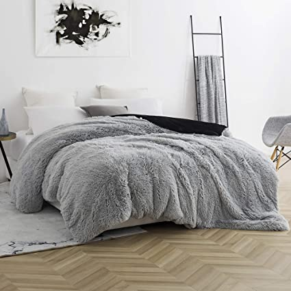 Amazon Com Byourbed Coma Inducer Twin Xl Duvet Cover Are You Kidding Glacier Gray Black Home Kitchen