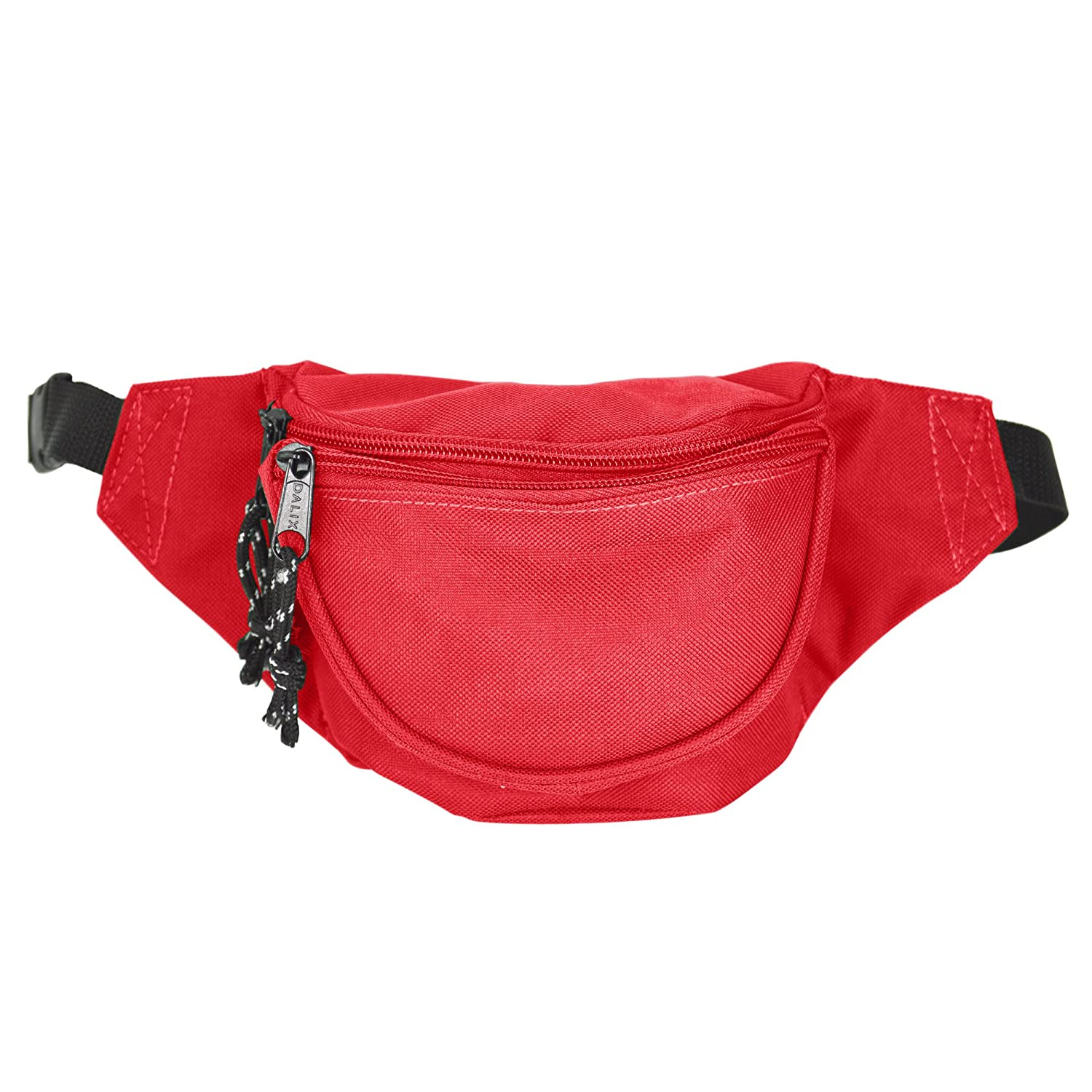 DALIX Fanny Pack w// 3 Pockets Traveling Concealment Pouch Airport Money Bag