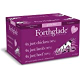 Forthglade 100% Natural Grain Free Just 90% Meat Selection Dog Pet Food Multi-Pack 395g (12 Pack)