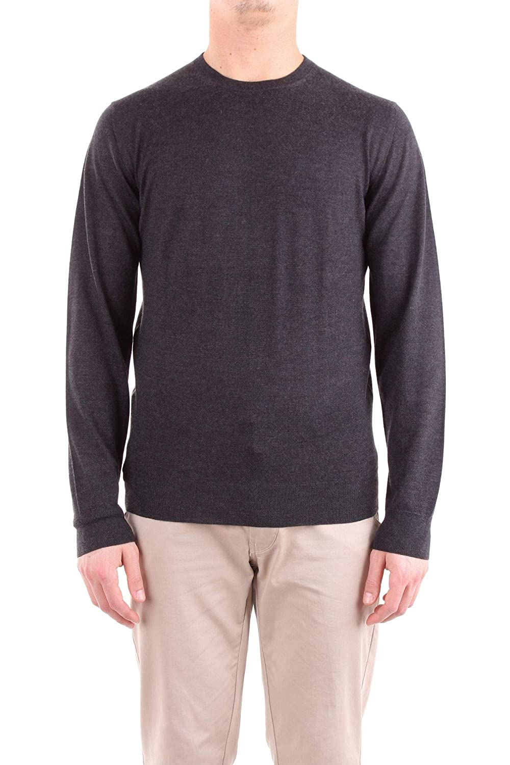 Fedeli Men's 500DERBYGREY Grey Wool Sweater