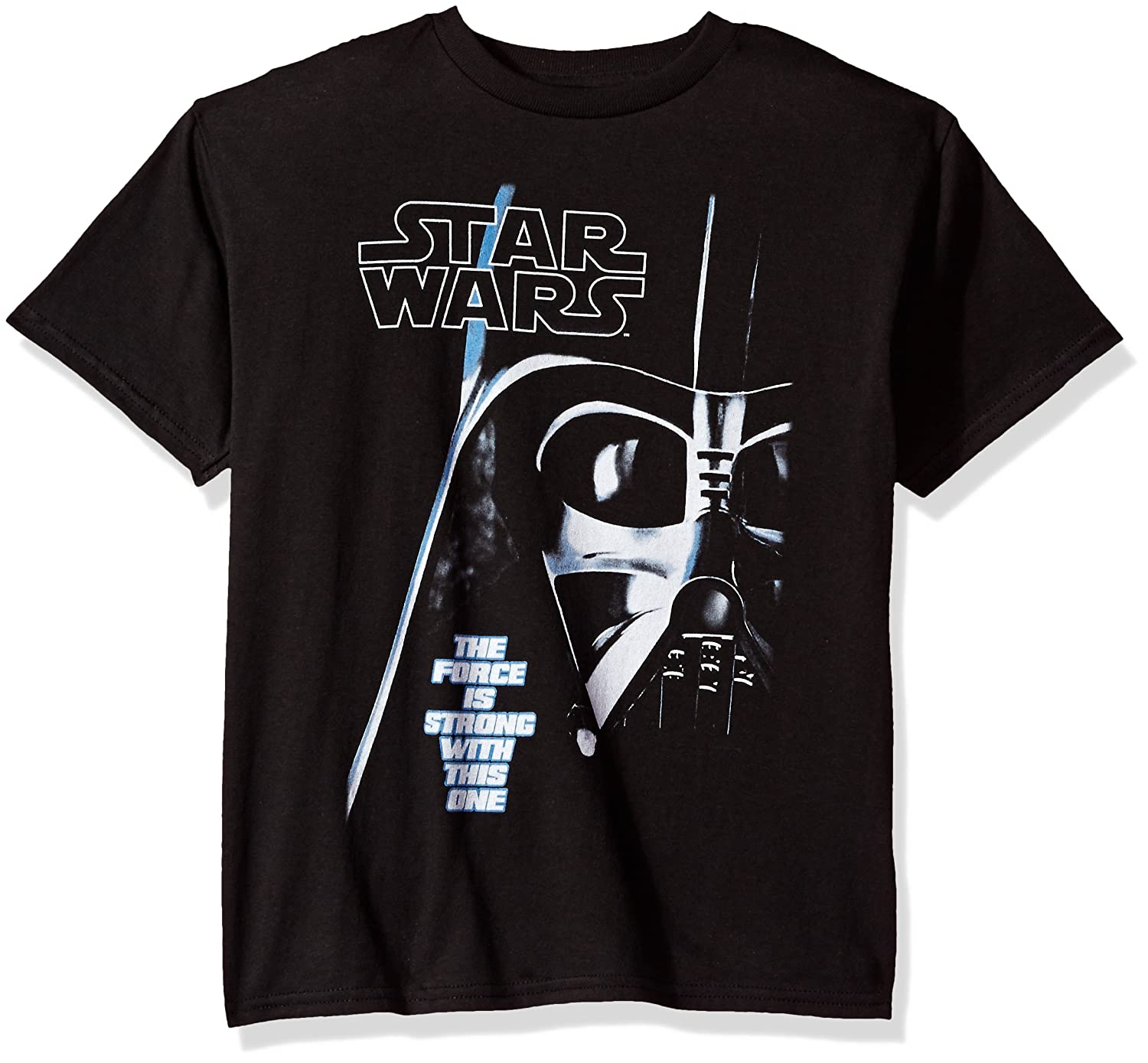 nice Star Wars Big Boys' Vader Face Force is Strong Graphic Logo Tee supplies