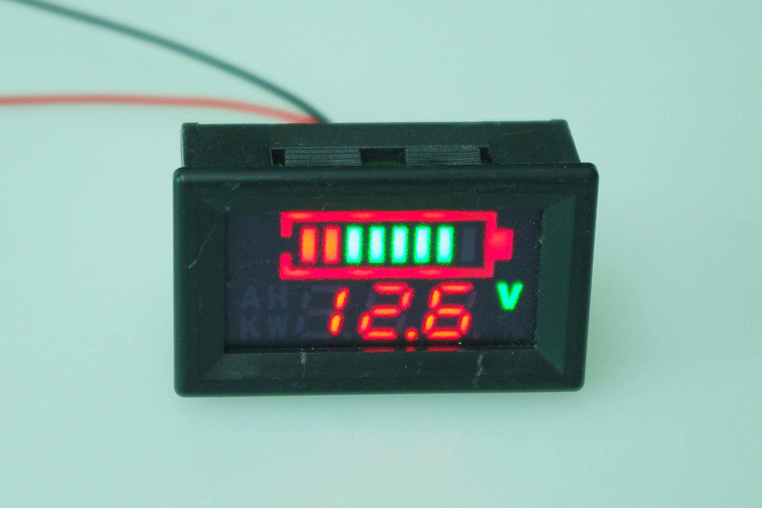 SMAKN DC 12v 24V 36V 48V 60V 72V 96V Acid lead batteries percentage capacity indicator LED Tester voltmeter With TTL OUTPUT by SMAKN (Image #2)
