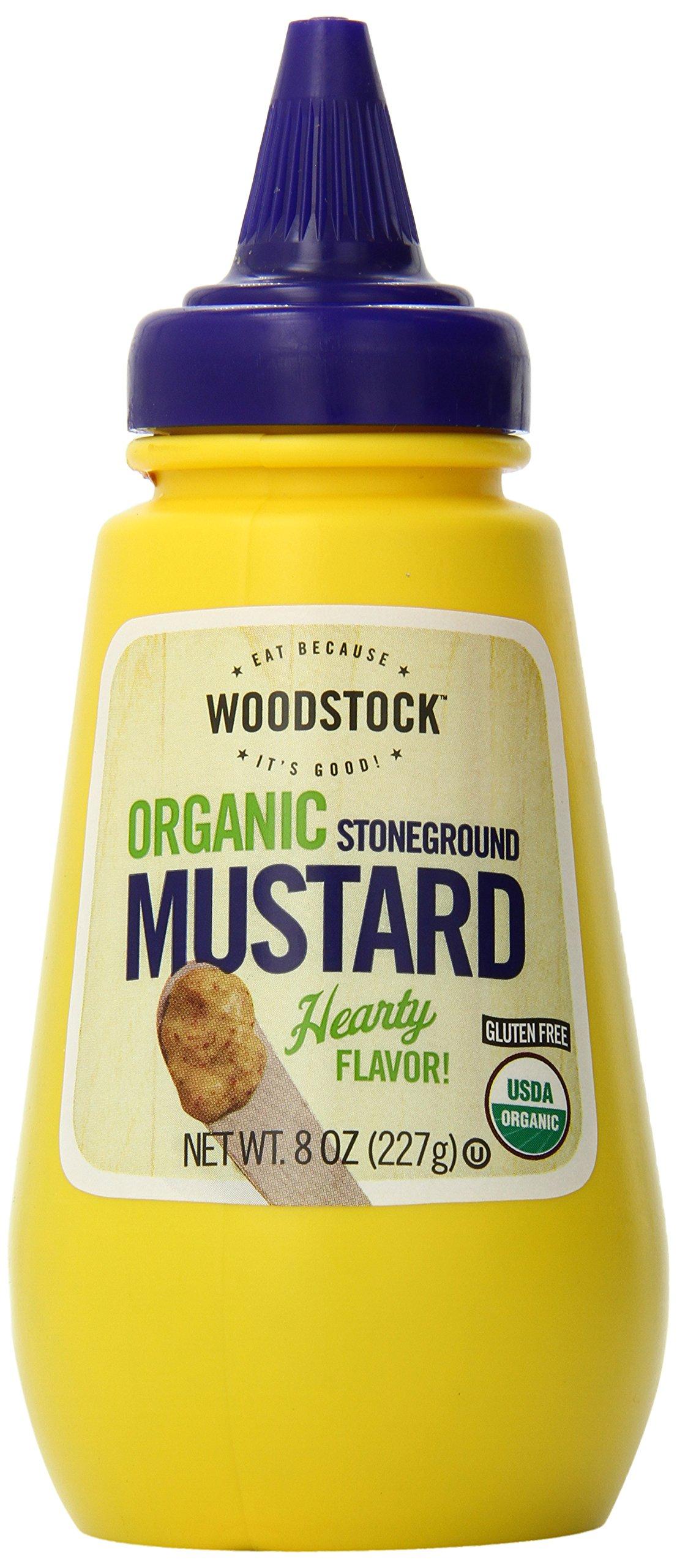 Woodstock Organic Stoneground Mustard, 8 Ounce (Pack of 12)