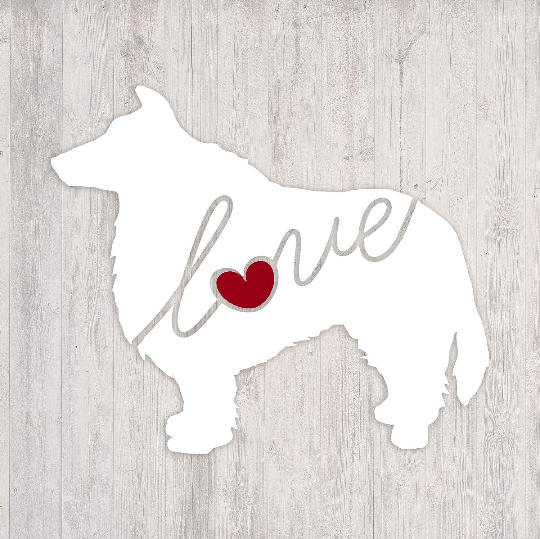 Car Window Vinyl Decal Sticker Akita Love Script Font