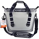 SuperHandy Soft Cooler Bag Tote Portable Hopper 6.9Gal 26L 36 Can Hydro-Zip Cold Cell Insulated Leak & Waterproof High Ice Re