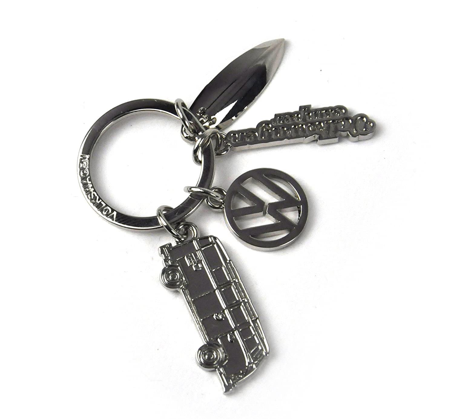 Officially Licensed Volkswagen VW Campervan Chrome Charms Keyring