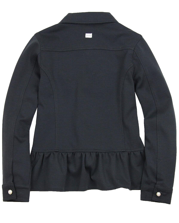 Sizes 3-14 Le Chic Girls Ponti Jacket with Ruffles