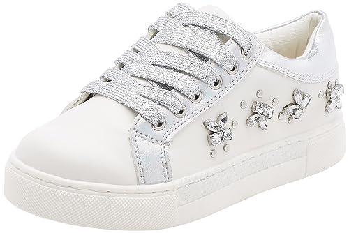 BATA 321304, Zapatillas para Niñas, Blanco (Bianco 1), 34 EU: Amazon.es: Zapatos y complementos